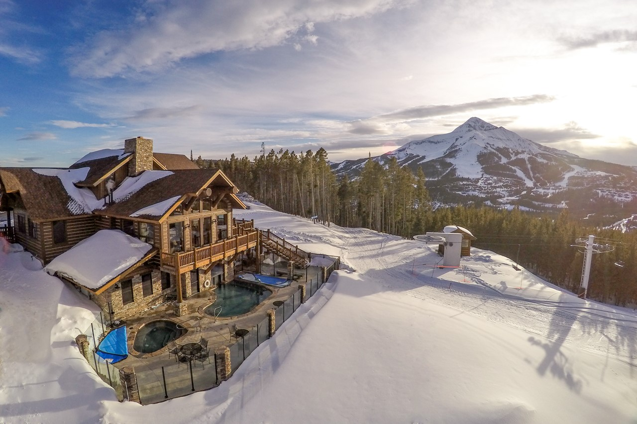 Lodge-Aerial-with-Lone-Peak